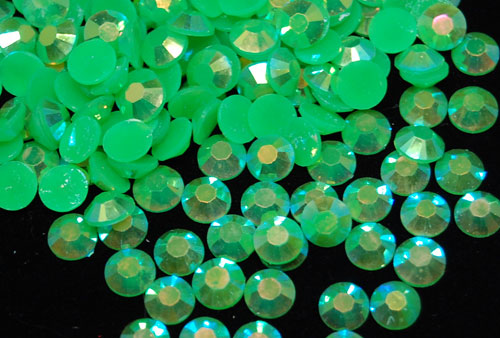 Grass Green Jelly Rhinestones - 30ss - 500ct