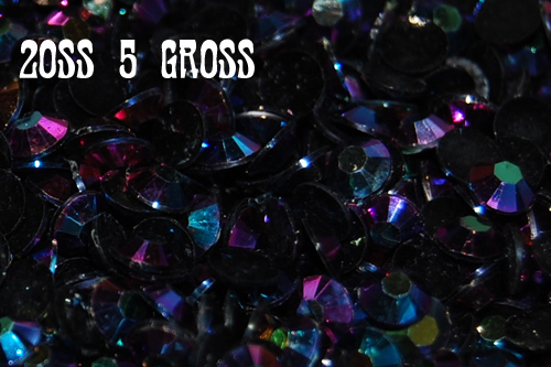 Black AB Jelly Rhinestones 20ss - 5 Gross