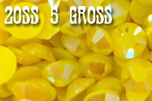 Goldenrod AB Jelly Rhinestones 20ss - 5 Gross