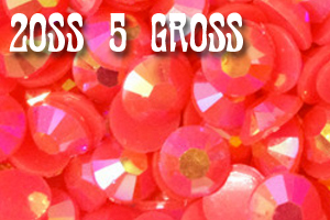Hot Pink/Orange AB Jelly Rhinestones 20ss - 5 Gross