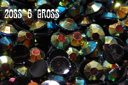 Green AB Jelly Rhinestones 20ss - 5 Gross