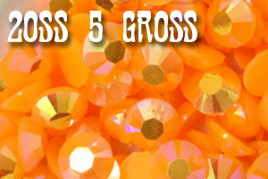 Orange AB Jelly Rhinestones 20ss - 5 Gross