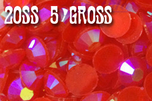 Red AB Jelly Rhinestones 20ss - 5 Gross