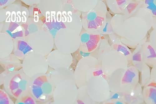 White AB Jelly Rhinestones 20ss - 5 Gross